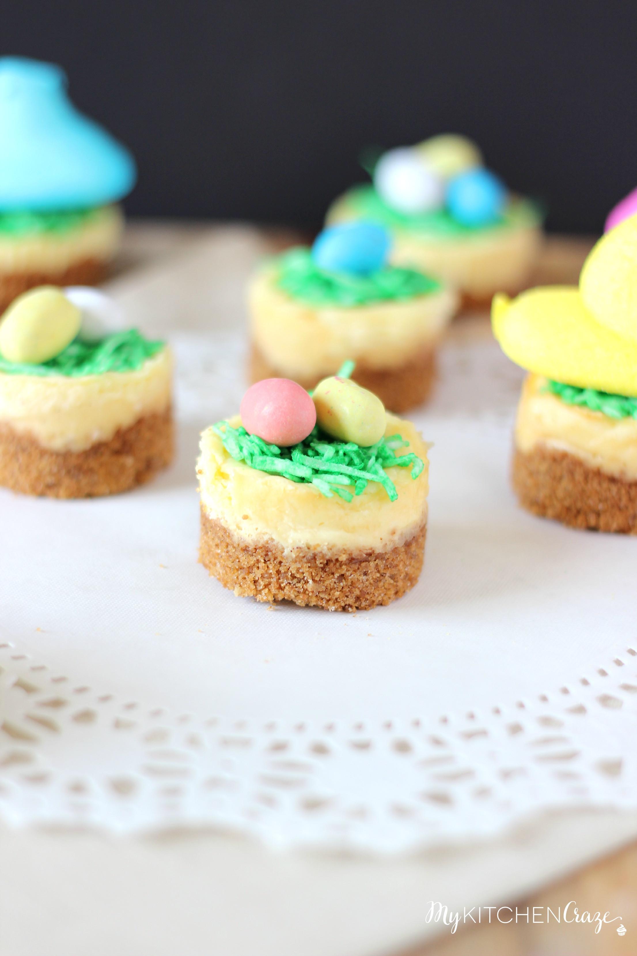Easter Dessert Recipe  Mini Easter Cheesecakes My Kitchen Craze