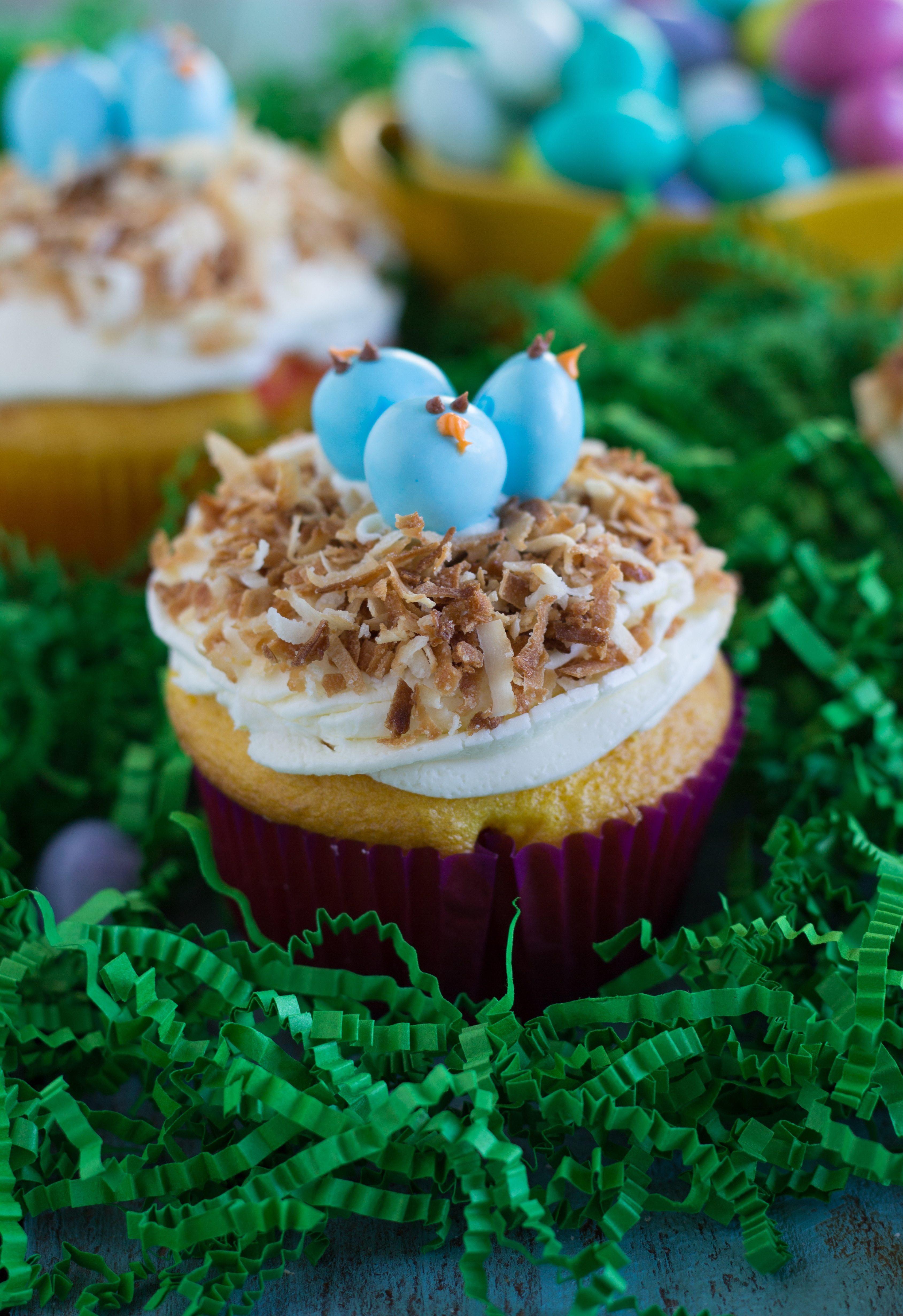 Easter Dessert Recipes  Easy Bird s Nest Cupcakes Chelsea s Messy Apron