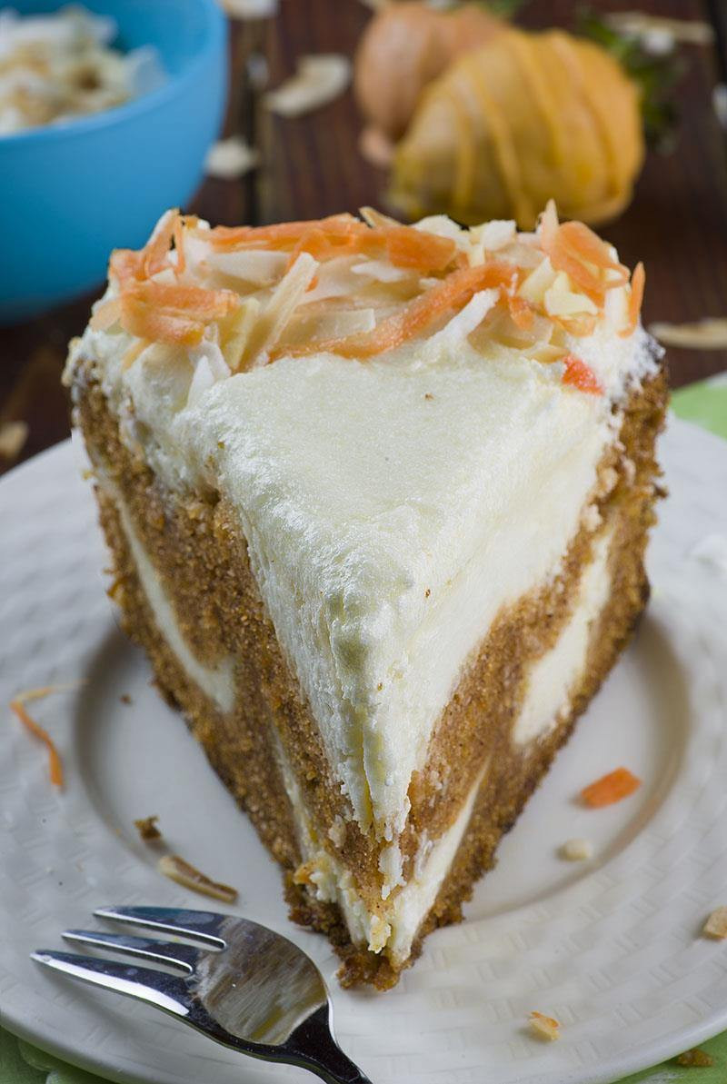 Easter Dessert Recipes  Carrot Cake Cheesecake Easter version