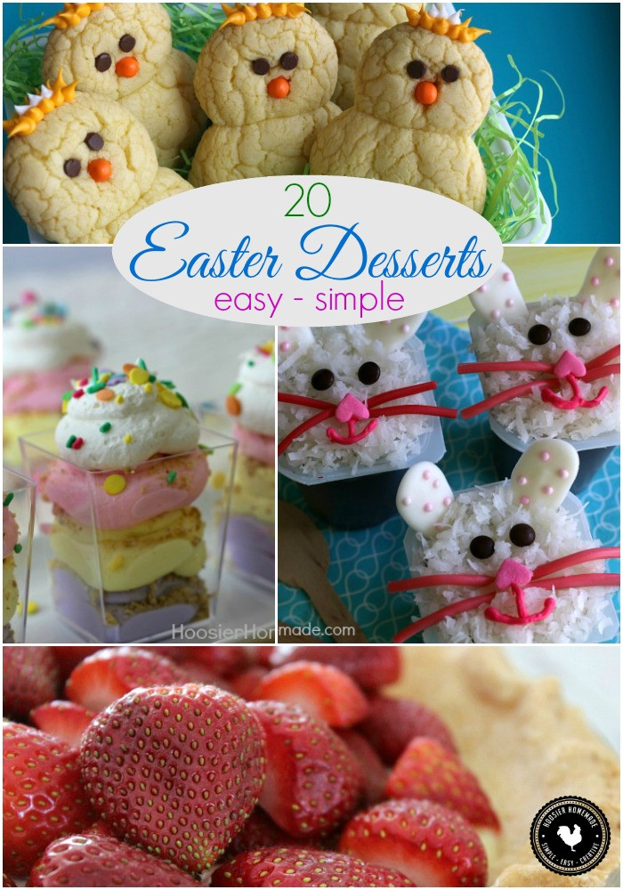 Easter Desserts Easy  20 Easy Easter Desserts Hoosier Homemade
