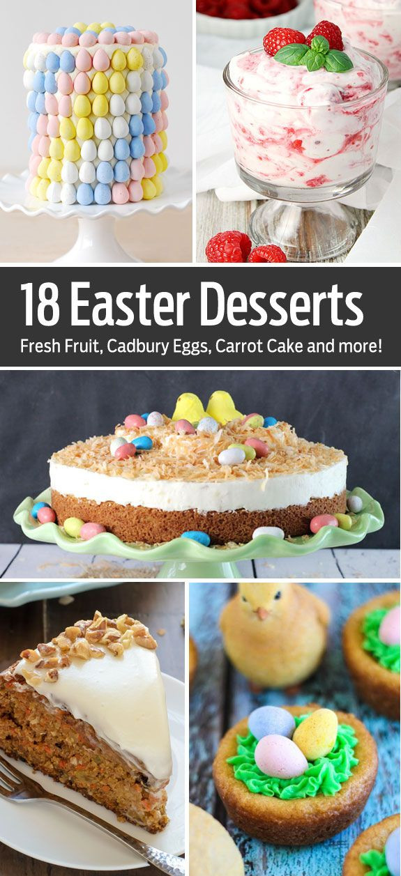 Easter Desserts Easy  18 Fun Easter Desserts everything from easy no bake