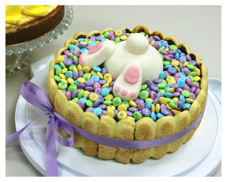Easter Desserts Pinterest  Bunny cake surrounded by Lady Fingers and topped with