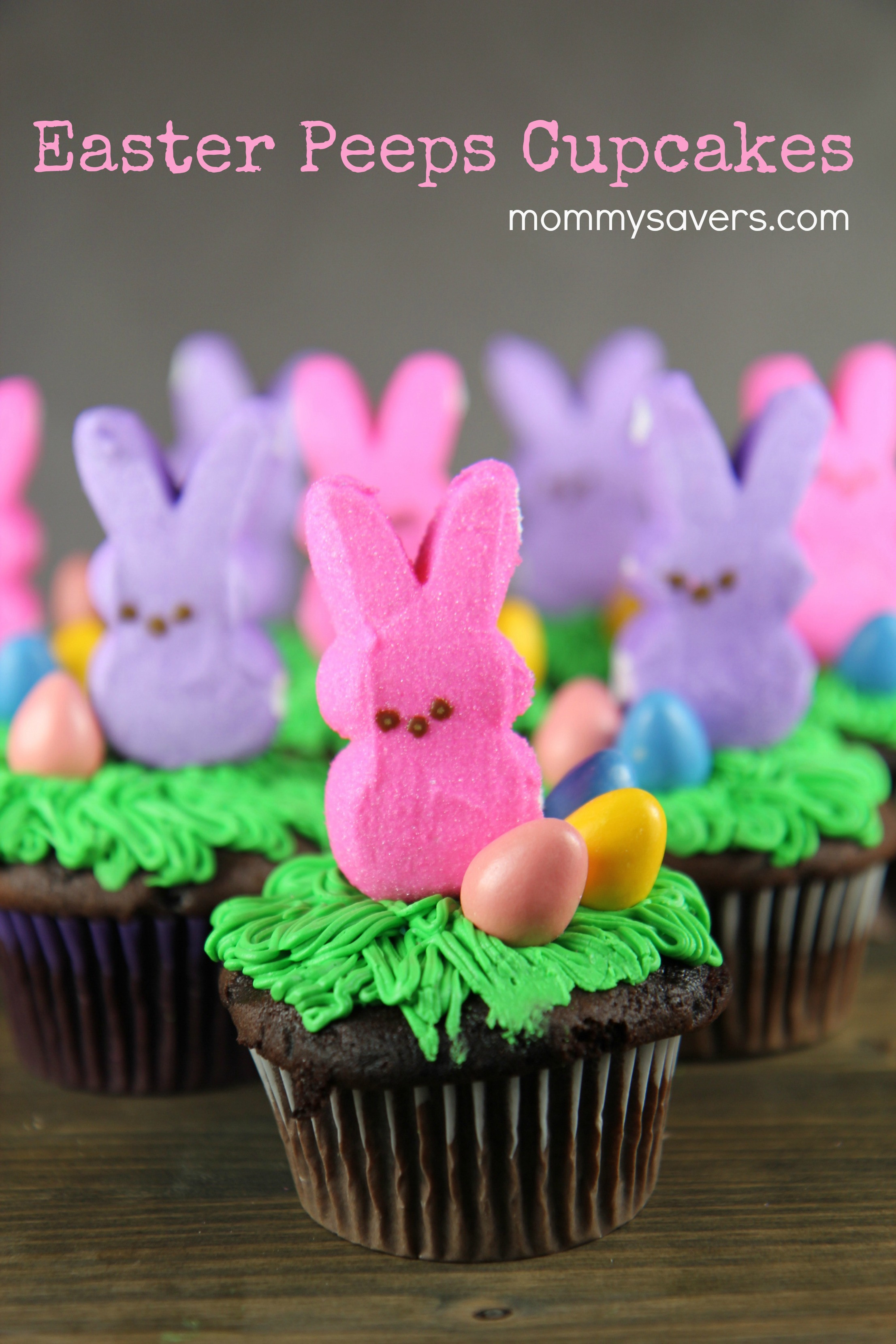 Easter Desserts With Peeps  Easter Bunny Peeps Cupcakes Mommysavers