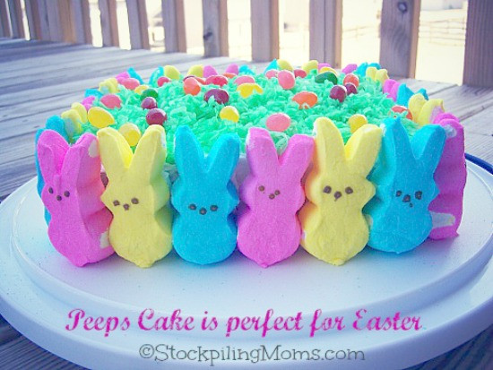 Easter Desserts With Peeps  Easter Peeps Cake