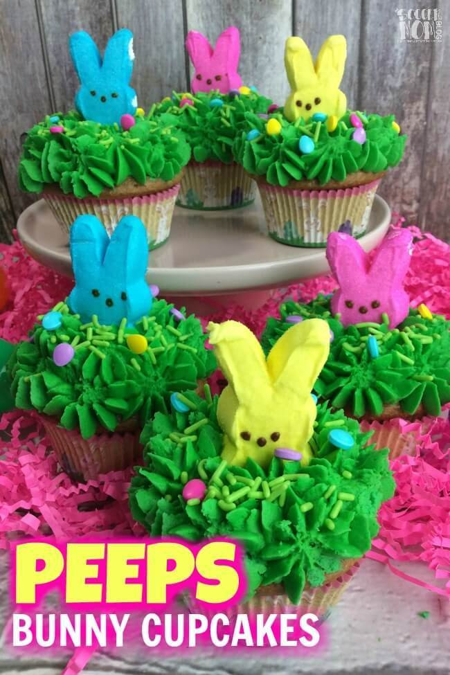 Easter Desserts with Peeps the top 20 Ideas About Peeps Easter Bunny Cupcakes the soccer Mom Blog