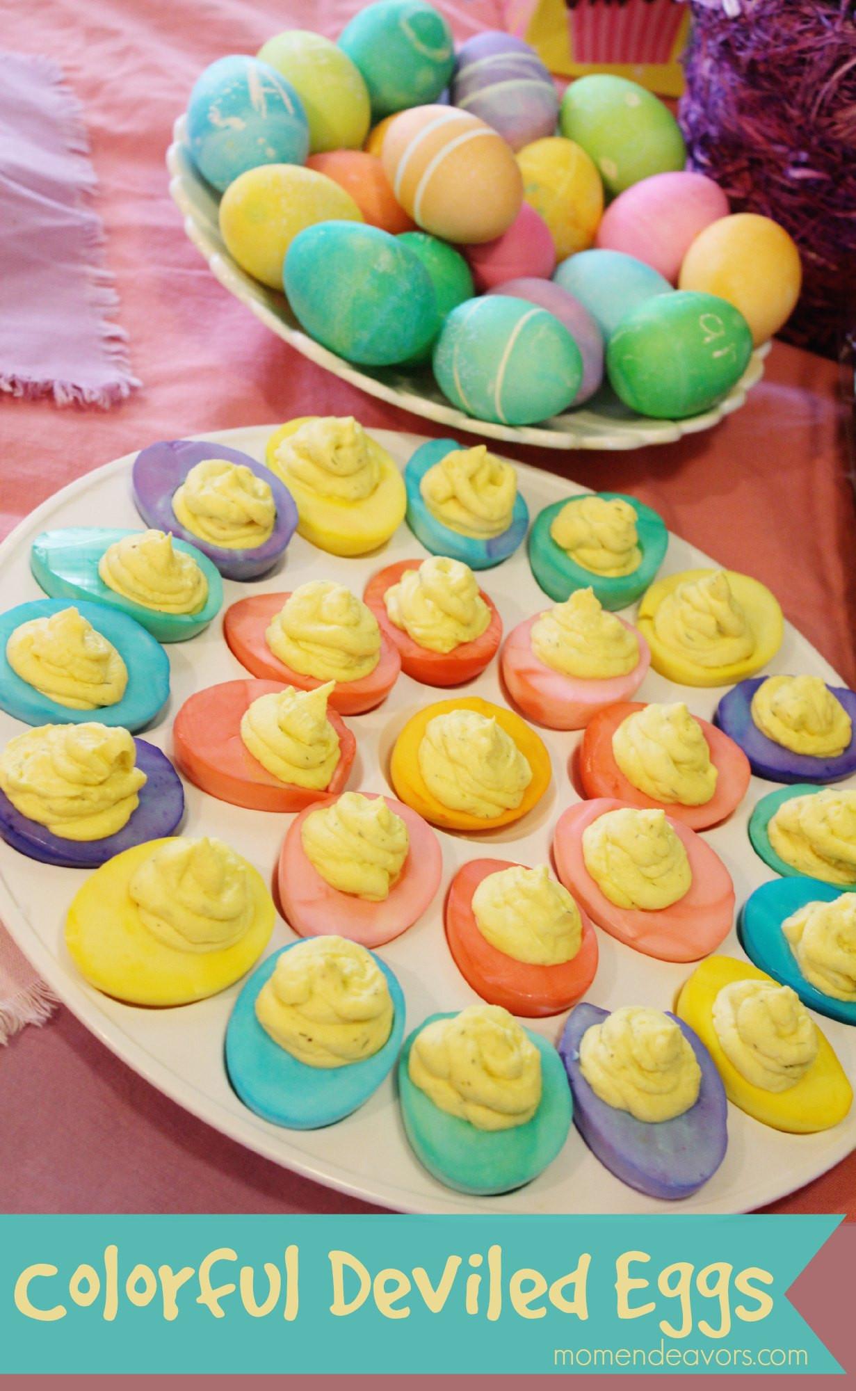 Easter Deviled Eggs  Colorful Deviled Easter Eggs