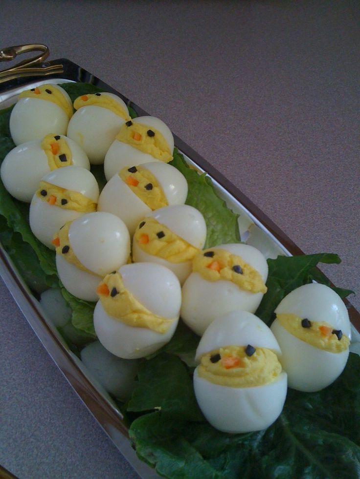 Easter Deviled Eggs  Easter setting