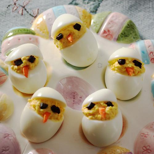 Easter Deviled Eggs  My Owl Barn Recipe Easter Deviled Eggs