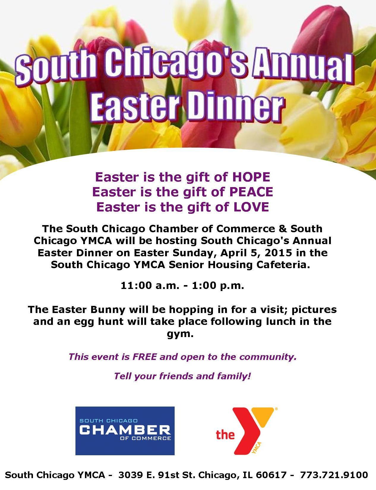 Easter Dinner Chicago  South Chicago munity Easter Dinner