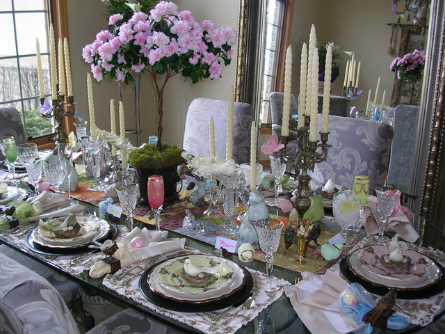 Easter Dinner Chicago  Easter Table Eclectic Dining Room Chicago by