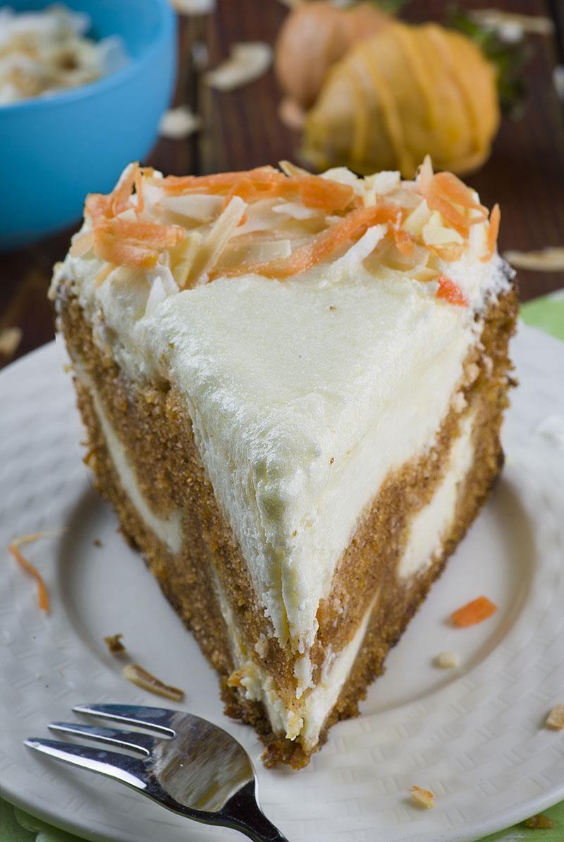 Easter Dinner Desserts  Carrot Cake Cheesecake Easter version