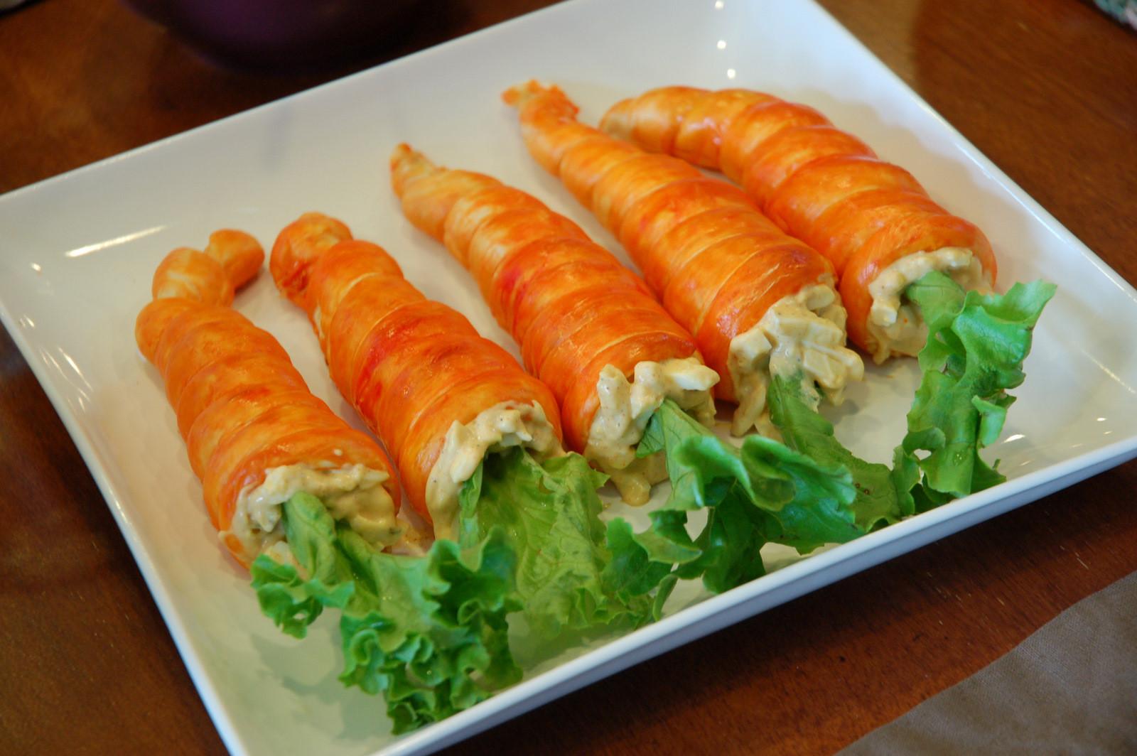 Easter Dinner Food  restlessrisa Easter Dinner Carrot Rolls & Resurrection Rolls