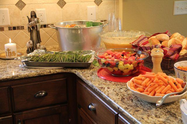 Easter Dinner For 2  Shower of Roses Our Easter Dinner Easter Sunday 2012