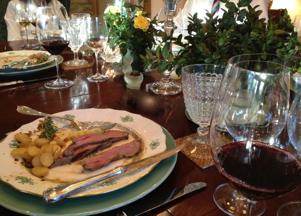 Easter Dinner For One  A whirlwind weekend LOVE the secret ingre nt