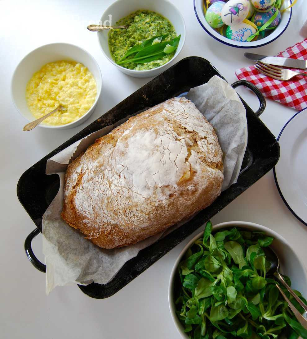 Easter Dinner For One  Austrian Easter Ham with Horseradish Sauce