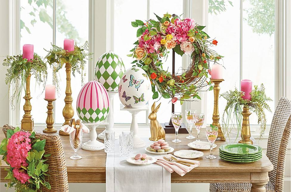 Easter Dinner Ideas 2019  11 Easter & Spring Decorating Ideas Grandin Road Blog