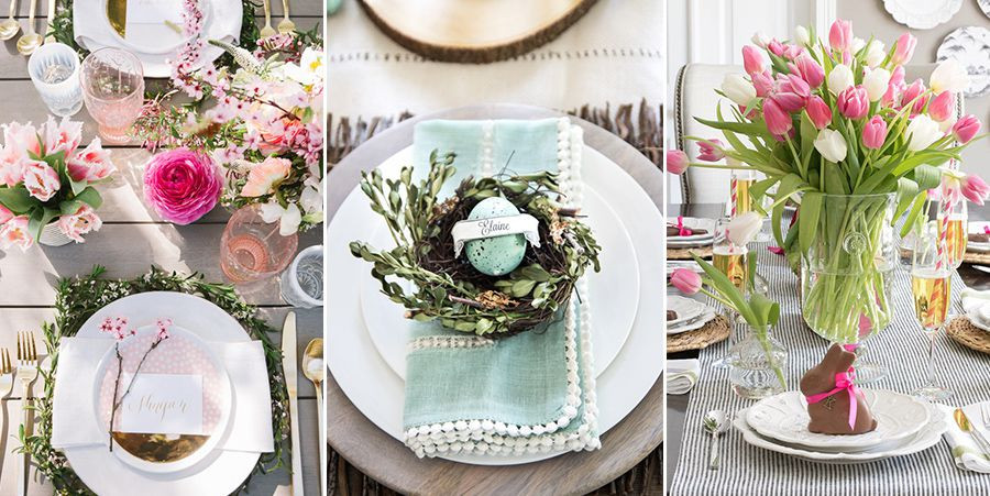 Easter Dinner Ideas 2019  40 Easter Table Decorations Centerpieces for Easter