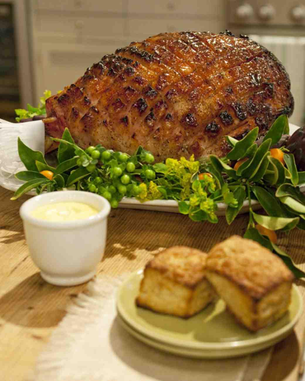 Easter Dinner Ideas Martha Stewart  Mustard Maple Glazed Ham Recipe & Video