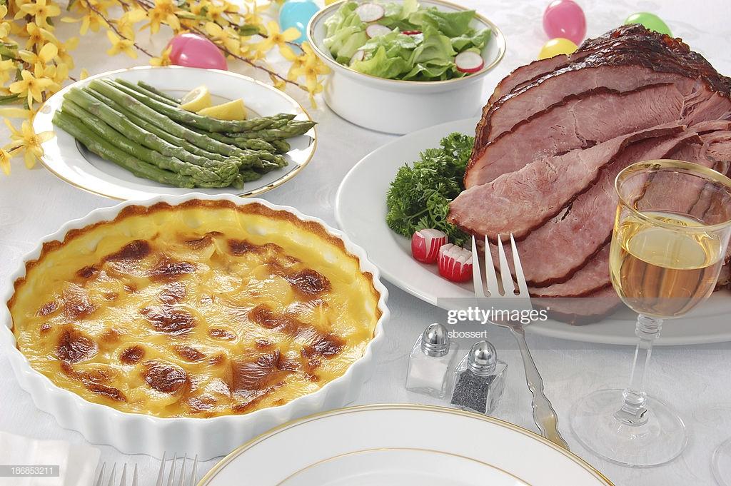 Easter Dinner Ideas.No Ham  Easter Dinner Stock