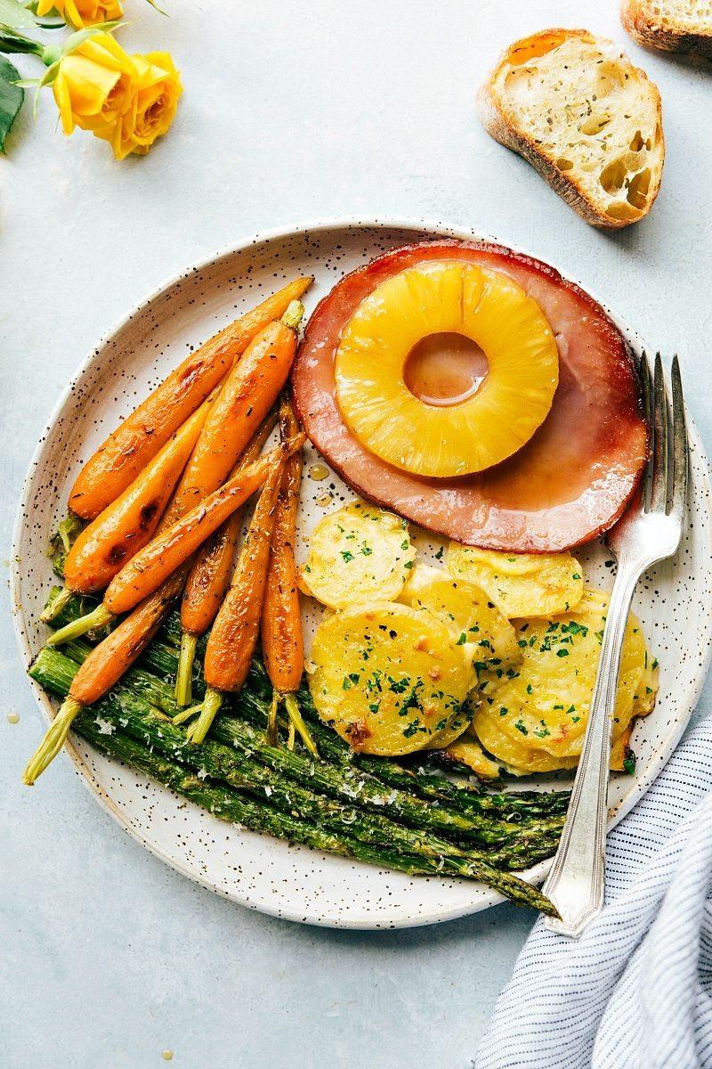 Easter Dinner Ideas With Ham  e Hour Easter Dinner Chelsea s Messy Apron