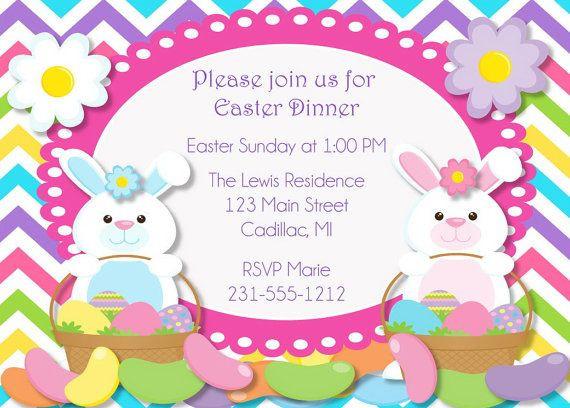Easter Dinner Invitations  188 best invitations images on Pinterest