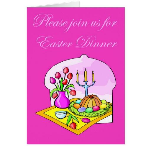 Easter Dinner Invitations  Easter Dinner Invitation Card