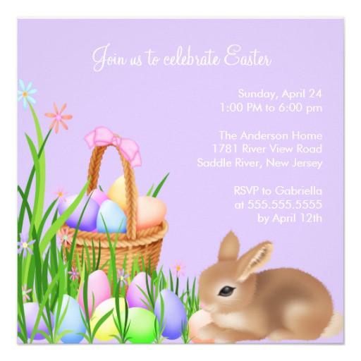Easter Dinner Invitations  Easter Egg Garden Easter Dinner Party Invitation 5 25