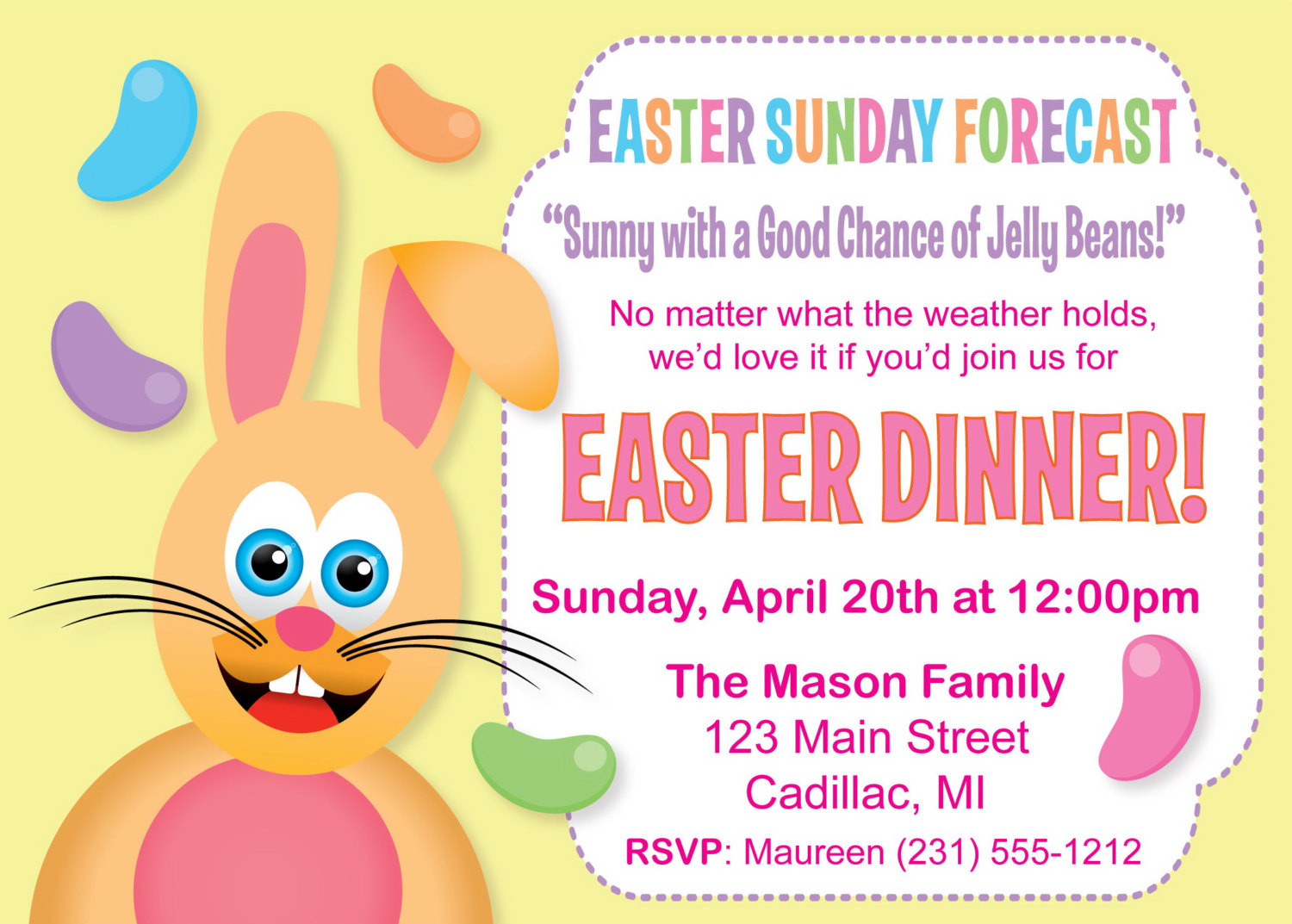 Easter Dinner Invitations top 20 Humorous Easter Dinner Invitation Funny Easter Invitation