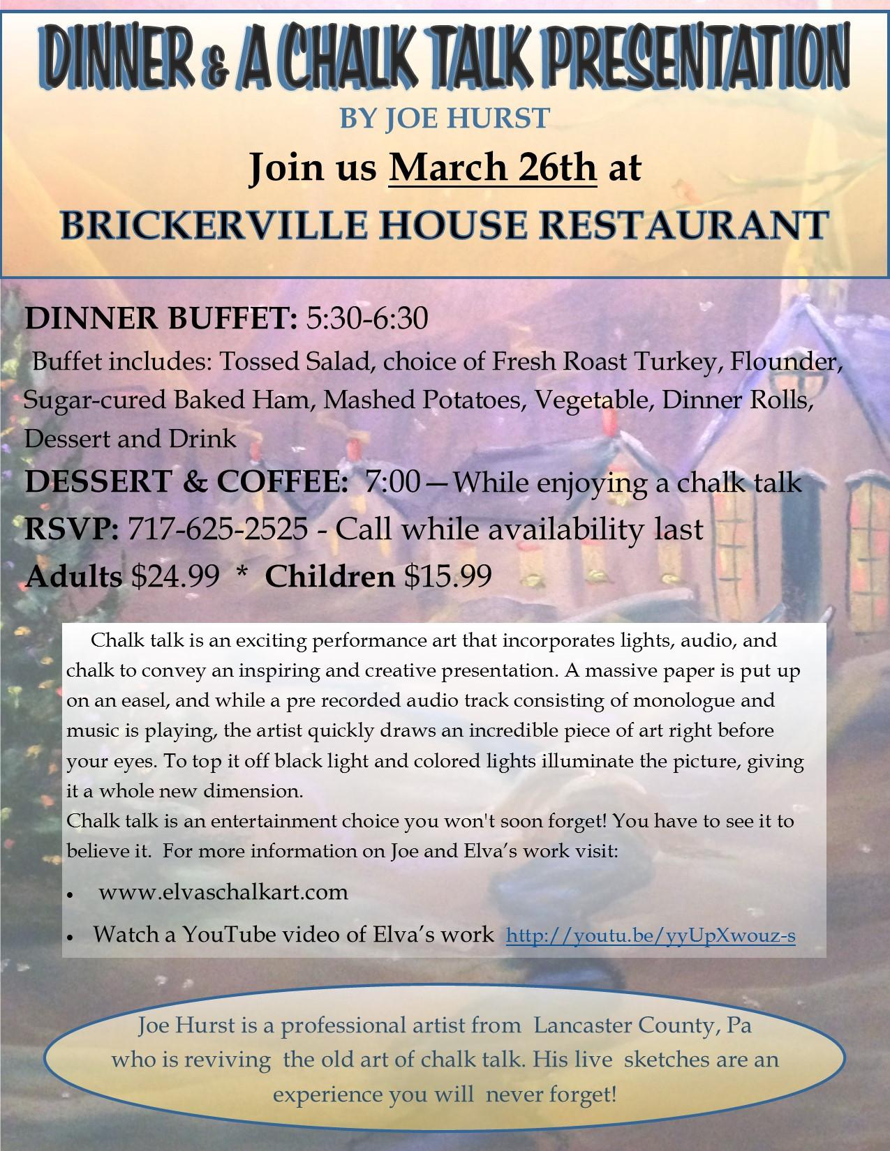Easter Dinner Lancaster Pa  Brickerville House Family Restaurant – Family Style Dining