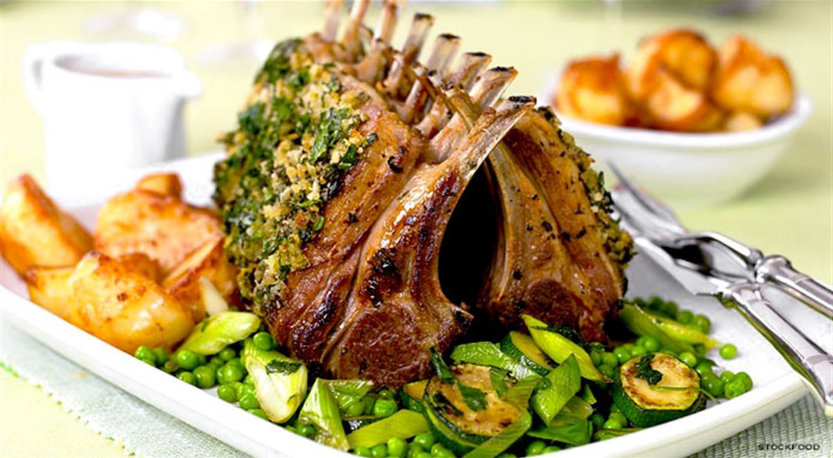 Easter Dinner Main Course  Lamb of Rack the Recipe to Prepare a Roast Rack of Lamb