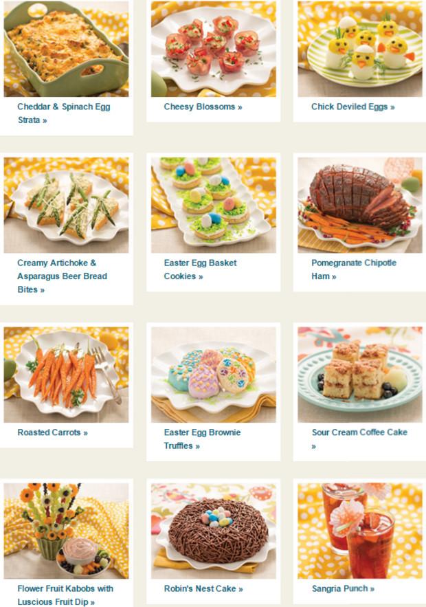 Easter Dinner Menu  Easter Menu Collection from Tastefully Simple