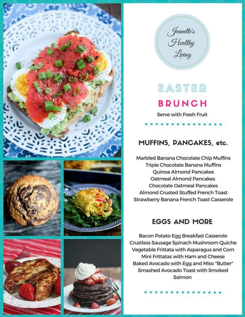 Easter Dinner Menu For A Crowd  Gluten Free Easter Brunch Menu Jeanette s Healthy Living