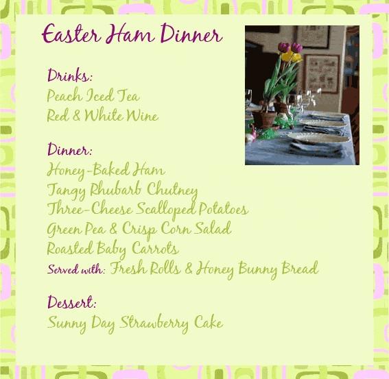 Easter Dinner Menus  Traditional Easter Dinner Menu