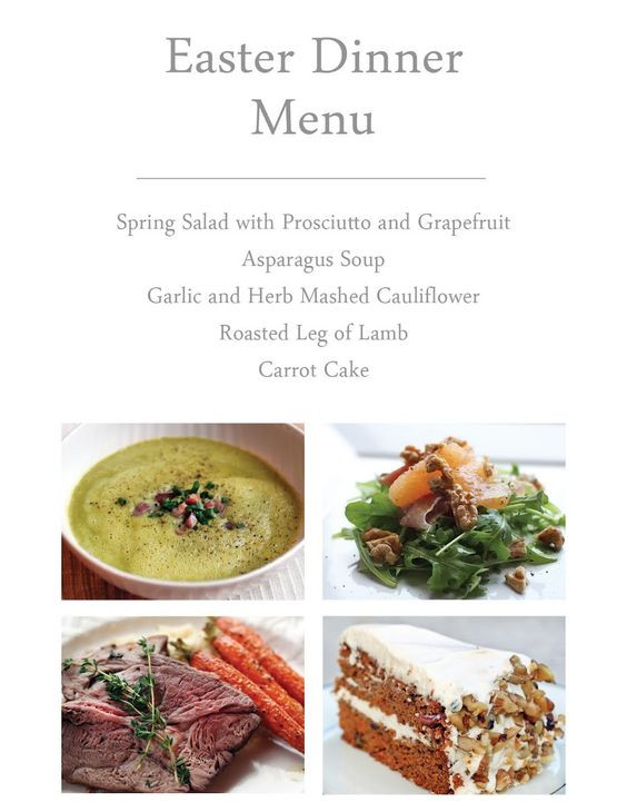 Easter Dinner Menus And Recipes  Easter Dinner ideas THIS THE WHOLE THING Salad with