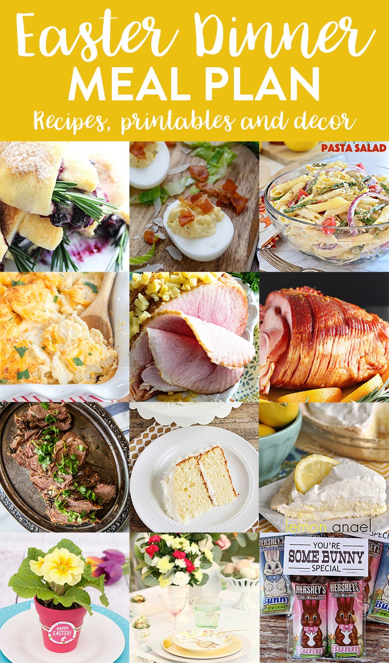 Easter Dinner Menus  Easter Dinner Menu and Meal Plan we ve done the work for