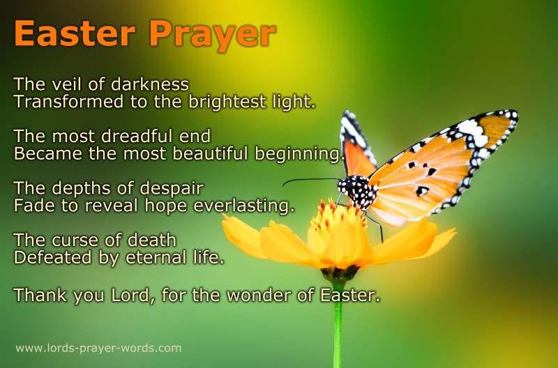 Easter Dinner Prayer Catholic  8 Easter Prayers and Blessings Poem & Quotes