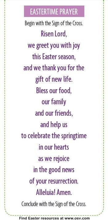 Easter Dinner Prayer Catholic  25 best ideas about Dinner prayer on Pinterest