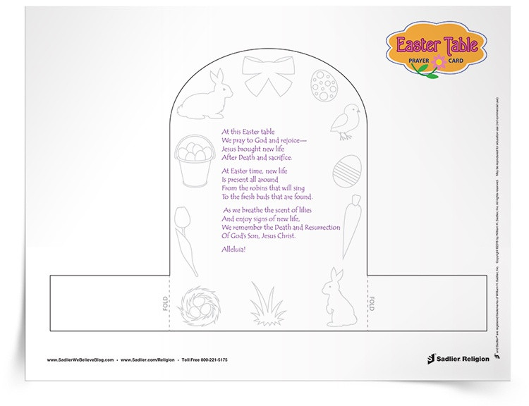 Easter Dinner Prayer Catholic  Easter Meal Prayer Activity To Be Used Before Meals