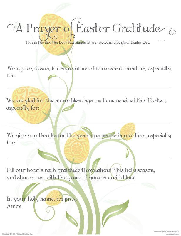 Easter Dinner Prayer Catholic  A Prayer of Easter Gratitude Catholic Easter Prayer