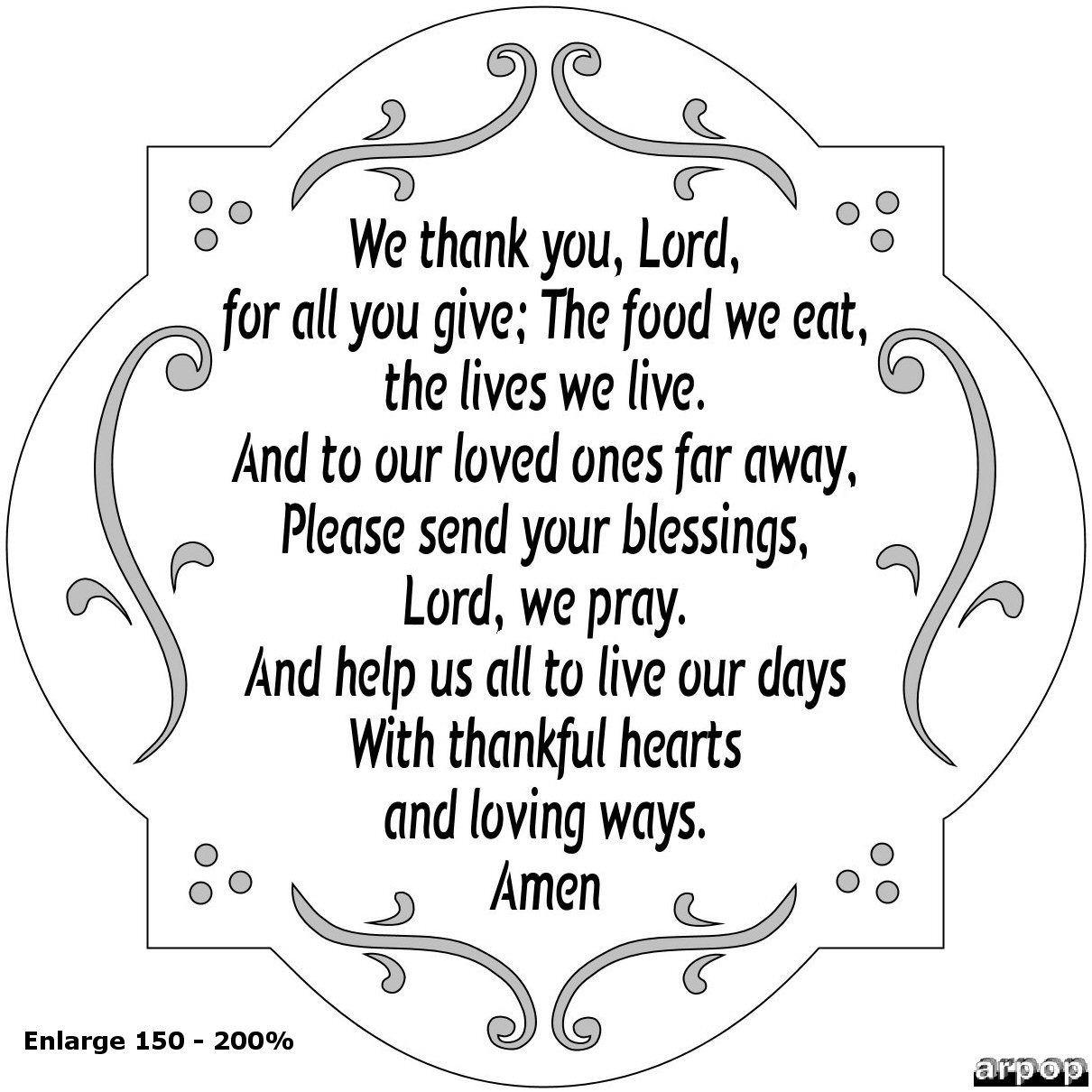 Easter Dinner Prayer  A Thanksgiving Prayer Crafts Pinterest
