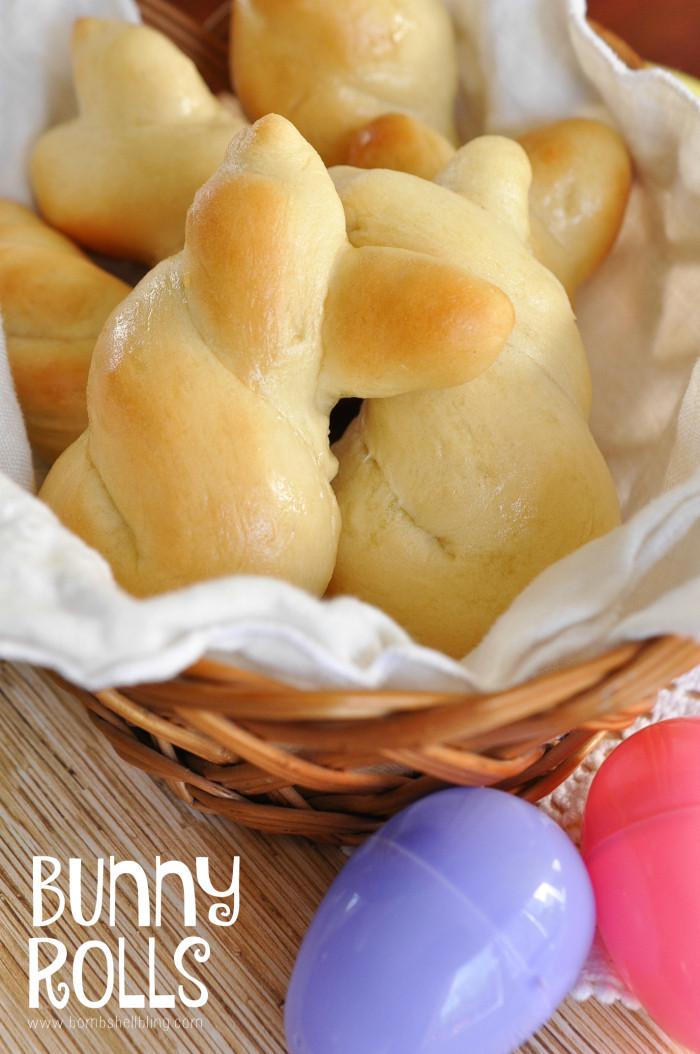 Easter Dinner Rolls  Easter Bunny Rolls Recipe Bombshell Bling