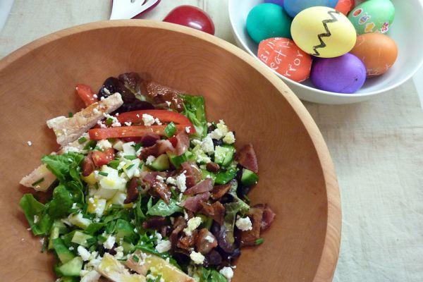 Easter Dinner Salads  Easter Egg Cobb Salad Dinner A Love Story