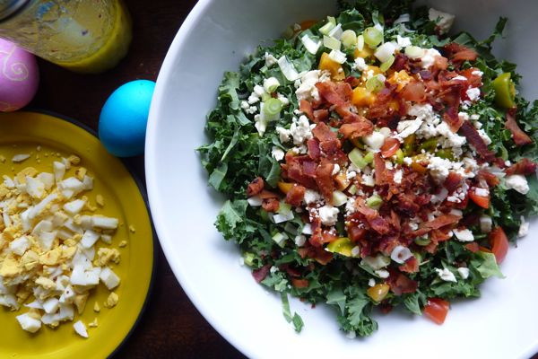 Easter Dinner Salads  Kale Cobb Salad or How to Turn Easter Eggs into Dinner