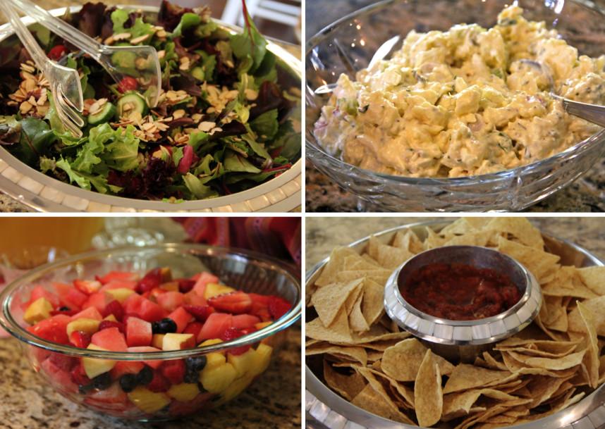 Easter Dinner Salads  Shower of Roses Our Easter Dinner Easter Sunday 2012