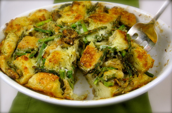 Easter Dinner Side Dishes With Ham  Asparagus Bread Pudding is the perfect spring side dish to