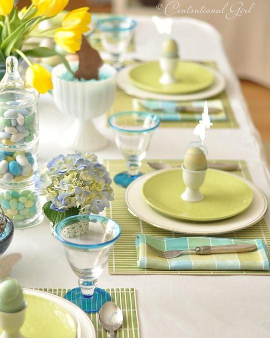 Easter Dinner Table Settings  An Easter Table