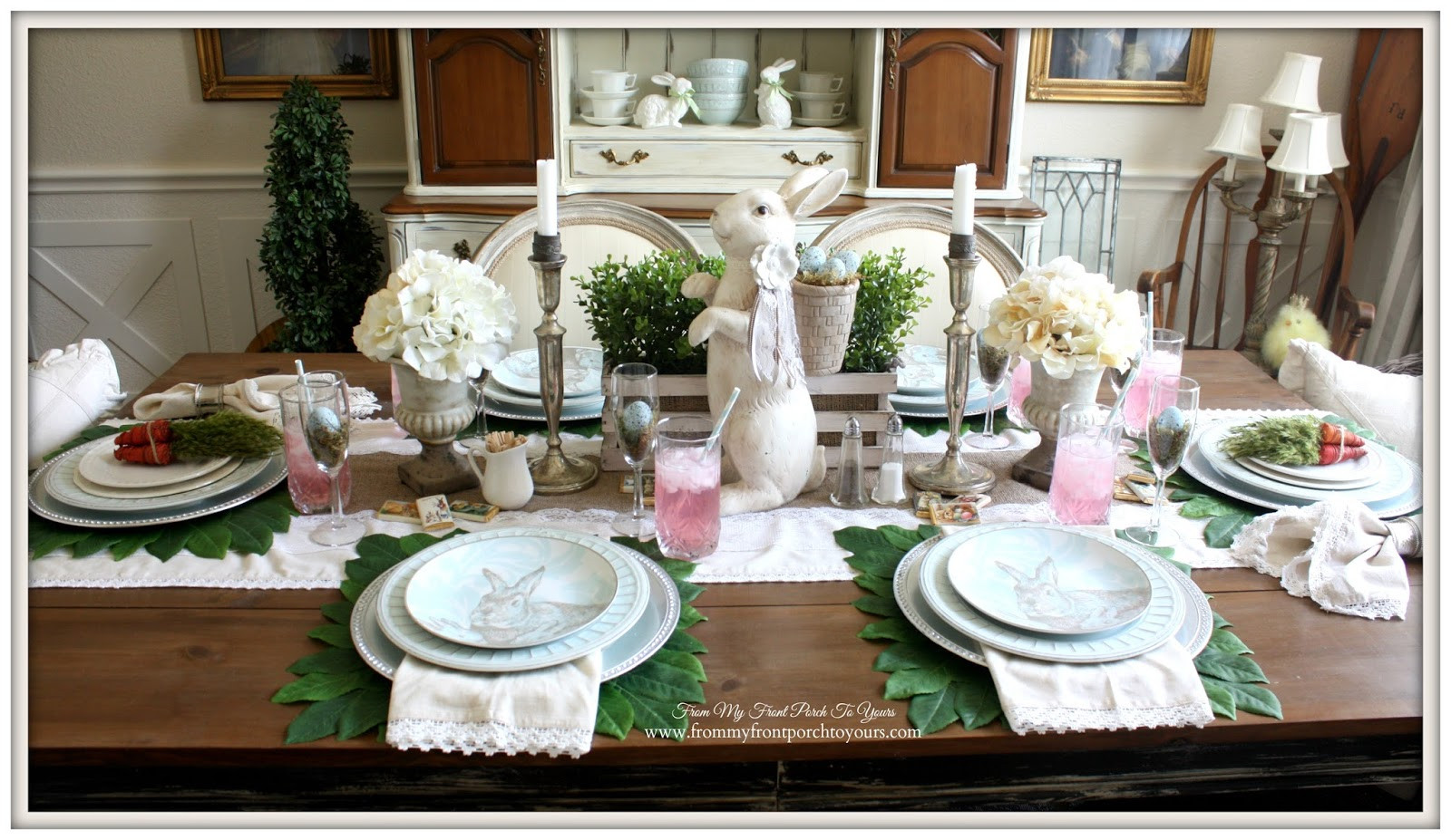 Easter Dinner Table Settings  From My Front Porch To Yours French Farmhouse Easter