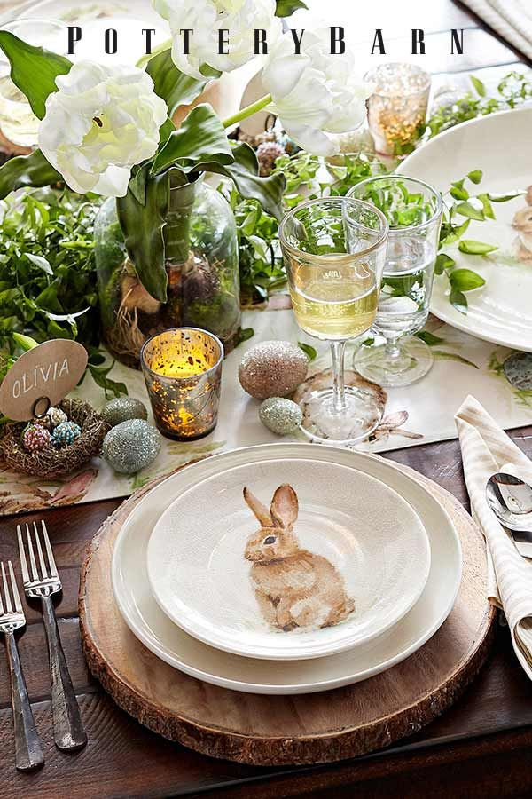 Easter Dinner Table Settings  1000 images about Easter & Spring Tablescapes on