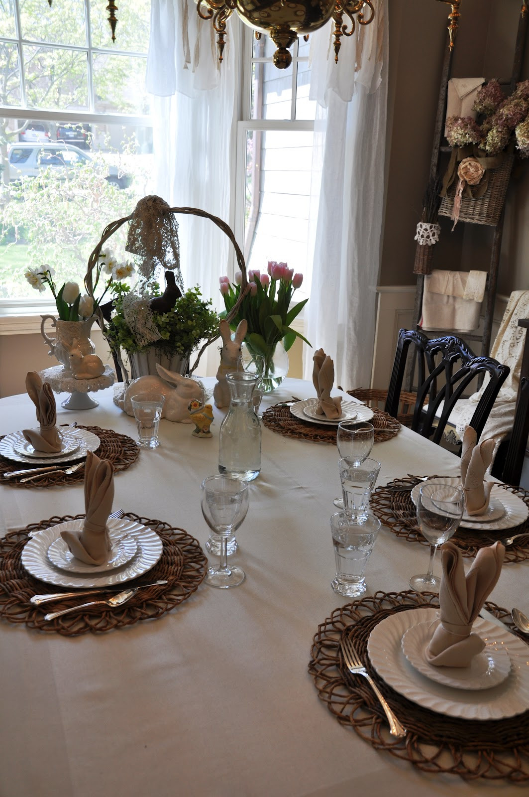 Easter Dinner Table Settings  Serendipity Refined Blog Simple Easter Dinner Table Setting