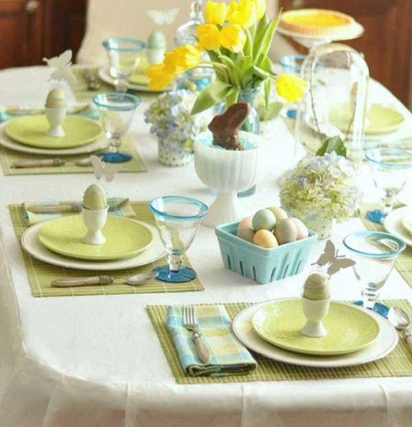 Easter Dinner Table Settings  20 Stylish and unique Easter dinner table decorations